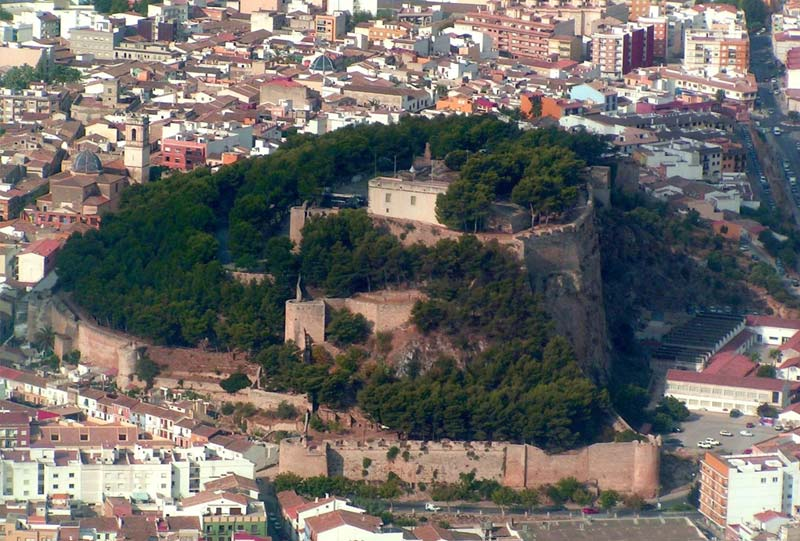 foto aerea espectacular castillo denia