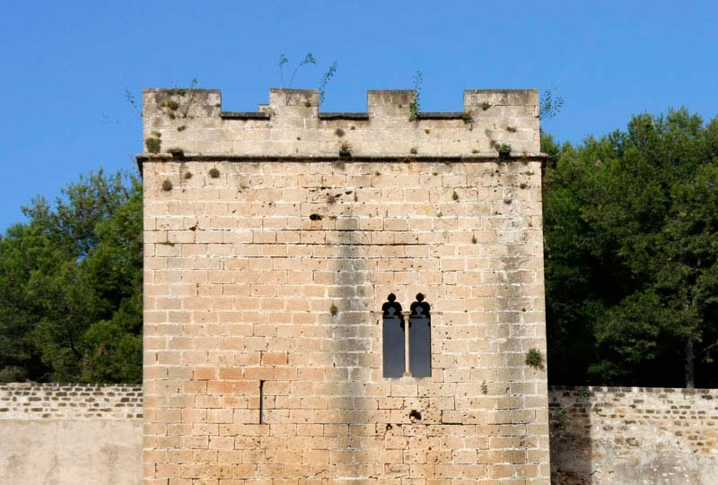 vistas muralla y torre de vigilancia castillo denia