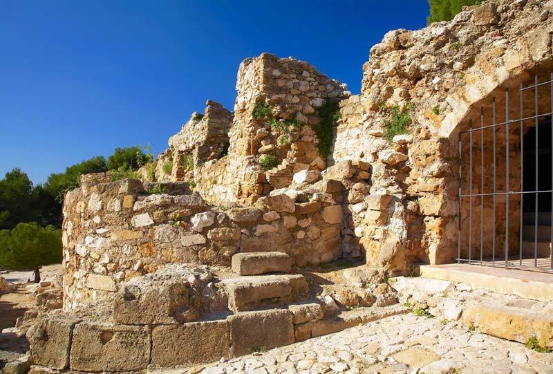 vistas ruinas castillo denia